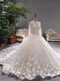 贅沢な3D花の2017年のウェディングドレス