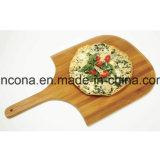 Het goedkope Bamboe van de Prijs om Pizza die Scherpe Raad met Handvat dienen