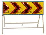Poteau de signalisation de sens de flèche gauche de DEL