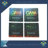 El número de serie transparentes láser etiqueta Holograma