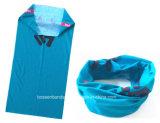 O produto da fábrica de China projeta da garganta cinzenta do poliéster da cópia o lenço tubular sem emenda