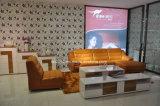 Grand sofa en cuir faisant le coin à la maison italien du sofa H-9138 de Furntiure