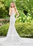 Платья T92429 нового Beaded Mermaid платья венчания 2018 шнурка V-Шеи Bridal