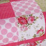 Cama confortável durável Prewashed personalizados Quilted colchas de 3 Peças Conjunto Coverlet Flores imprime