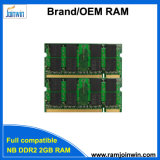 Trabalho com memória de RAM do portátil DDR2 2GB dos cartões-matrizes 128MB*8