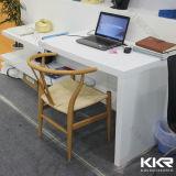 백색 광택 있는 사무용 가구 인공적인 돌 사무실 책상