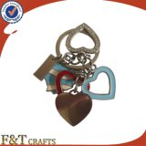 Regalo promocional de encargo Keychain barato del encadenamiento dominante del metal de la insignia de Hotsale