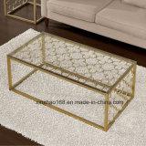 Tabella dorata di vetro di colore di disegno del blocco per grafici del fiore