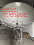 da placa contínua de aço satélite do ferro da fibra da faixa de 240cm8feet2.4m C antena de prato de rádio galvanizada tevê ao ar livre parabólica da G/M WiFi do parabolóide de Digitas