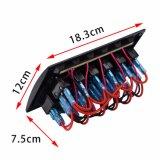 회로 차단기를 가진 방수 배 RV 스위치 위원회 6 갱 LED 로커 스위치