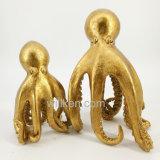 Pulpo a la Figurilla de resina oro decoración la decoración del hogar