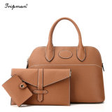 Best Leather 3PCS/Definir Sacos Top-Handle Bolsa feminina bolsas de Luxo