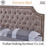 Moderner Entwurfs-reale lederne Bett-Schlafzimmer-Möbel