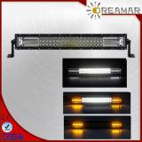 """21.5"""" Tri-Row 120W 1,5 W ETI barre lumineuse à LED avec éclairage blanc et orange"""