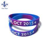 Logotipo personalizado pulsera de silicona de Decoración, regalos de pulsera de silicona