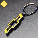 Venda por grosso de metais personalizados barata Logotipo Alfabeto Chaveiro com Anel O