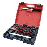 Outil de Threader de pipe avec le traitement de rochet et 6 matrices courantes tenus dans la main