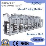 Manuell 8 Farbe Shaftless Gravüre-Drucken-Maschine für Film 90m/Min
