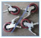 Caja de seguridad de la rueda de andamios para construcción