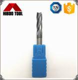 Moinhos de extremidade do quadrado do carboneto HRC55 com 4 flautas