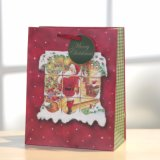 Christmasred Beutel bereift Papierbeutel
