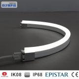 Striscia flessibile di lunghezza su ordinazione bianca calda LED di Sideview