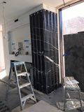 Mattonelle di marmo nere della scanalatura della Cina Marquina per la parete girante di punto