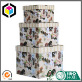 Impression de couleur deux boîtes-cadeau de papier de carton de parties réglées
