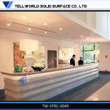 Moderner und fantastischer Entwurfs-hoher glatter Schönheits-Salon-Empfang-Schreibtisch