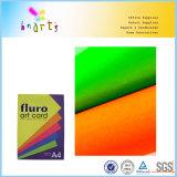 Papel fluorescente da cor autoadesiva
