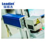 Código plástico de Qr de la cubierta de la máquina del fechado de la impresora de la marca del tiempo largo del laser del CO2 de Leadjet