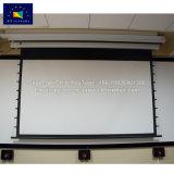 Акустически прозрачный экран проектора под действием электропривода
