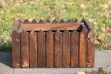 Potenciômetros de flor de madeira do plantador do tambor da decoração por atacado do jardim do escritório Home