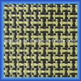 190G/M2 raffinent le tissu de fibre de carbone de Kevlar