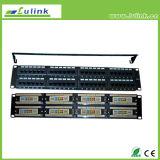 Кабель UTP CAT5e 24 порт коммутационной панели бар двойного использования положить конец