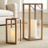Lanterne dell'interno & esterne di legno di quercia per la decorazione domestica