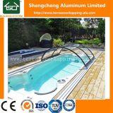 수영장을 알루미늄 프레임에 청결한 유지하는 엄밀한 수영풀 덮개
