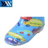 Coche OEM transparente de PVC impermeable impresos botas de lluvia para niños