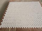 Carrara italiano mosaicos de espinha de peixe branco