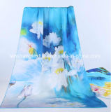 sciarpa stampata 100%Silk per la signora della donna