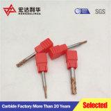 La macinazione lavora 4 utensili per il taglio solidi di Sqaure dei laminatoi di estremità del carburo del laminatoio di estremità dei condotti di scarico HRC45