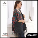 Poncho del mantón de señora Fashion Tassel Cardigan Sweater