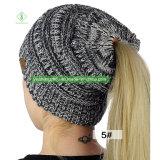 Chapéu da forma do chapéu do Beanie do centímetro cúbico do inverno quente do Sell da senhora Confeção de malhas morna