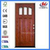 Puerta de madera sólida interior de la sala de clase de madera del marco de la teca
