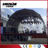 Pequeña Mini escenario de concierto de la torre de elevación giratorios vuelta de la armadura de la iluminación de aluminio