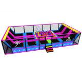 Ninjaのコースの跳躍の適性の正方形の子供の安く長方形の商業屋内トランポリン公園
