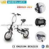 Самое низкое цена 16 дюймов складывая электрический велосипед