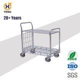 Haute qualité 4 roues chariot cargo lourds Panier
