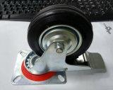 75mm/80mm/100mm/125mm/200mm schwarze industrielle Gummifußrolle mit Bremse