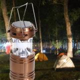 Nachladbare kampierende Laterne mit angeschaltener Zelt-Licht-Solarnotleuchte
